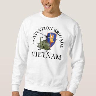 1r Veterinario Huey de Vietnam de los Bde de los Pullover Sudadera