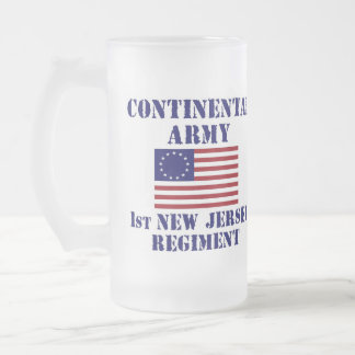 1r vidrio del regimiento de New Jersey de la guerr Taza Cristal Mate