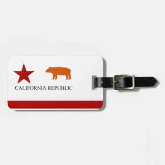 1ra bandera 1of2 del oso de California Etiquetas De Maletas