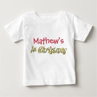 1ra camisa del navidad del verde enrrollado de los