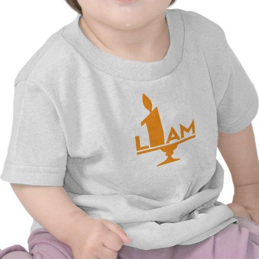 1ra camiseta de la fiesta de cumpleaños de Liam, m