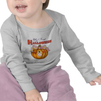 1ra camiseta del bebé de Halloween del bebé