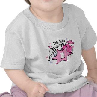 1ra camiseta del cumpleaños de la pequeña vaquera