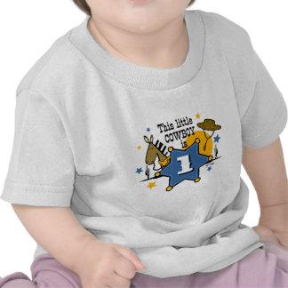 1ra camiseta del cumpleaños del pequeño vaquero