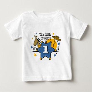 1ra camiseta del cumpleaños del pequeño vaquero remera