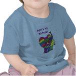 1ra camiseta del elefante del cumpleaños del bebé