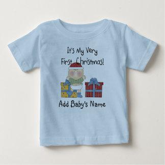 1ra camiseta del navidad del bebé remera