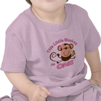 1ra camiseta del niño del chica del cumpleaños del