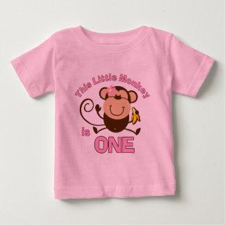 1ra camiseta del niño del chica del cumpleaños del camisas