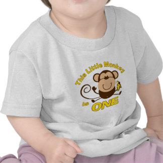 1ra camiseta del niño del muchacho del cumpleaños