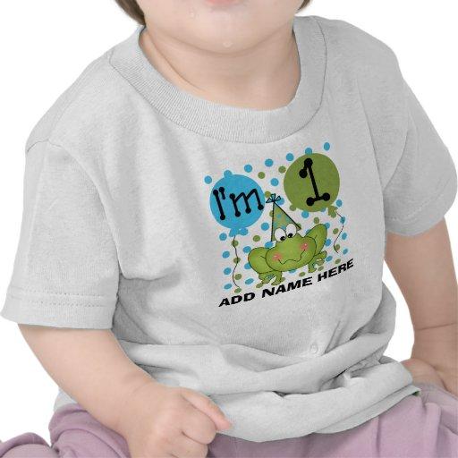 1ra camiseta personalizada del cumpleaños de la ra