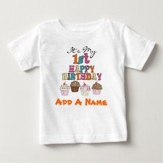 1ra camiseta personalizada del cumpleaños de las playera