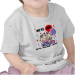 1ra camiseta personalizada del cumpleaños de los c