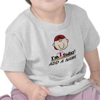 1ra camiseta personalizada del cumpleaños del béis