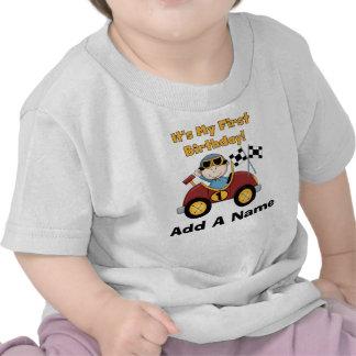 1ra camiseta personalizada del cumpleaños del coch