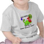 1ra camiseta personalizada del cumpleaños del dino