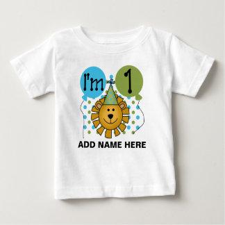1ra camiseta personalizada del cumpleaños del león remera