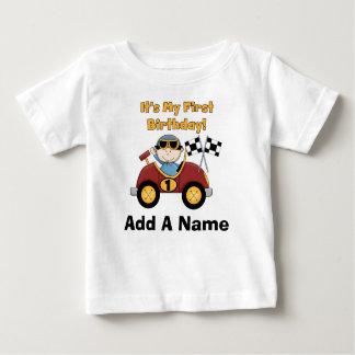 1ra camiseta personalizada del cumpleaños del poleras