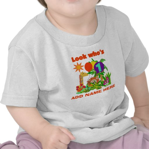1ra camiseta personalizada del cumpleaños del safa
