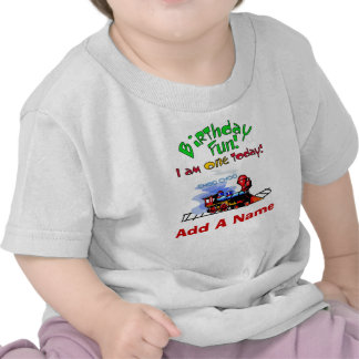 1ra camiseta personalizada del cumpleaños del tren
