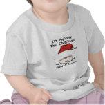 1ra camiseta personalizada del navidad del bebé bl
