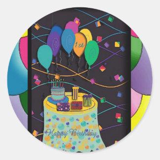 1ra copia de los surprisepartyyinvitationballoons pegatina
