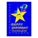1ra estrella del cumpleaños de la nieta felicitacion