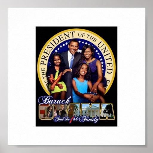 1ra familia de Obama Impresiones
