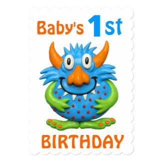 1ra fiesta de cumpleaños del monstruo del bebé invitación