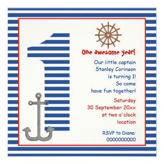 1ra fiesta de cumpleaños náutica del velero azul,