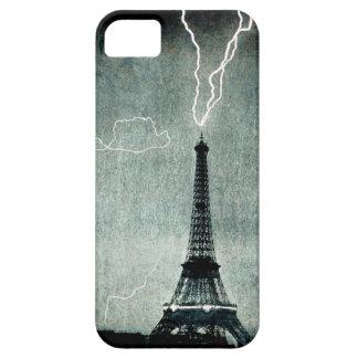 1ra huelga - el relámpago golpea la torre Eiffel 1 iPhone 5 Case-Mate Cárcasas