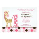 1ra invitación 5x7 del cumpleaños de la jirafa