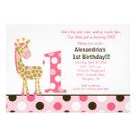 1ra invitación 5x7 del cumpleaños de la jirafa ros