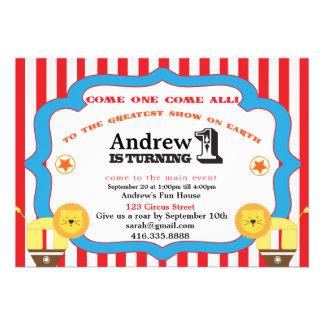 1ra invitación de la fiesta de cumpleaños del circ