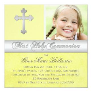 1ra invitación de la foto de la comunión santa de