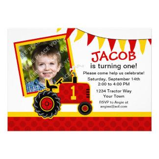 1ra invitación de la foto del cumpleaños del tract