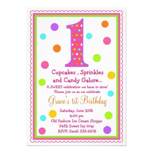 1ra invitación del cumpleaños de la sorpresa dulce