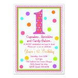 1ra invitación del cumpleaños de la sorpresa dulce invitación 12,7 x 17,8 cm