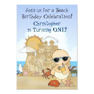 1ra invitación del cumpleaños del bebé fresco de
