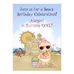 1ra invitación del cumpleaños del bebé fresco de l
