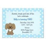 1ra invitación del cumpleaños del perrito lindo
