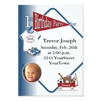 1ra invitación personalizada del cumpleaños de la