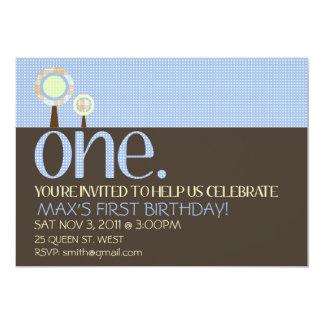 1ra invitación simple dulce del cumpleaños