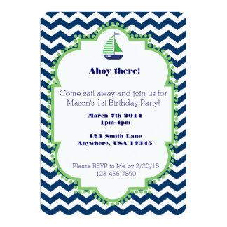 1ra invitación temática náutica del cumpleaños