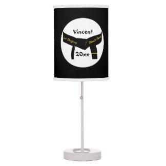 1ra lámpara de encargo de la correa negra del grad