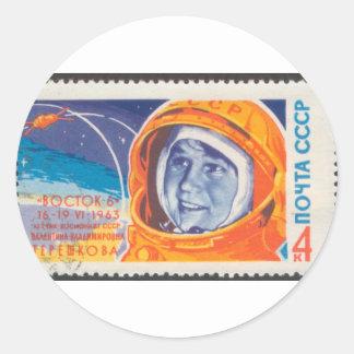 1ra mujer de Valentina Vladimirovna en espacio Etiquetas Redondas