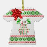 1ra Navidad del premio del lugar del navidad del f Ornamente De Reyes