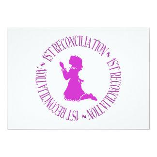 """1ra reconciliación - primera confesión (chica) invitación 5"""" x 7"""""""