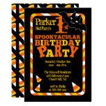 """1ra Spooktacular fiesta de cumpleaños de Halloween Invitación 5"""" X 7"""""""