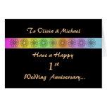 1ra tarjeta adaptable feliz del aniversario